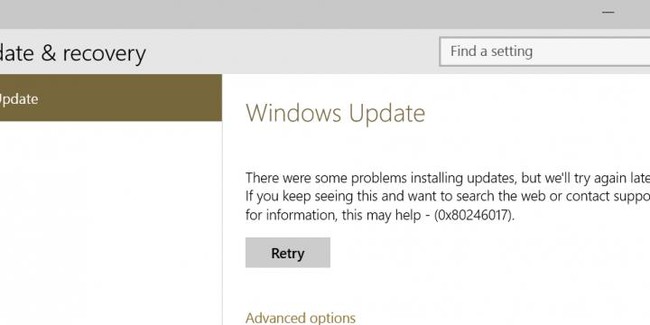 Problemy z aktualizacjami pod Windows 10